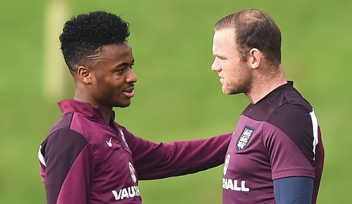 Wayne Rooney and Raheem Sterling