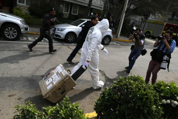 Bomb Santiago Chile police