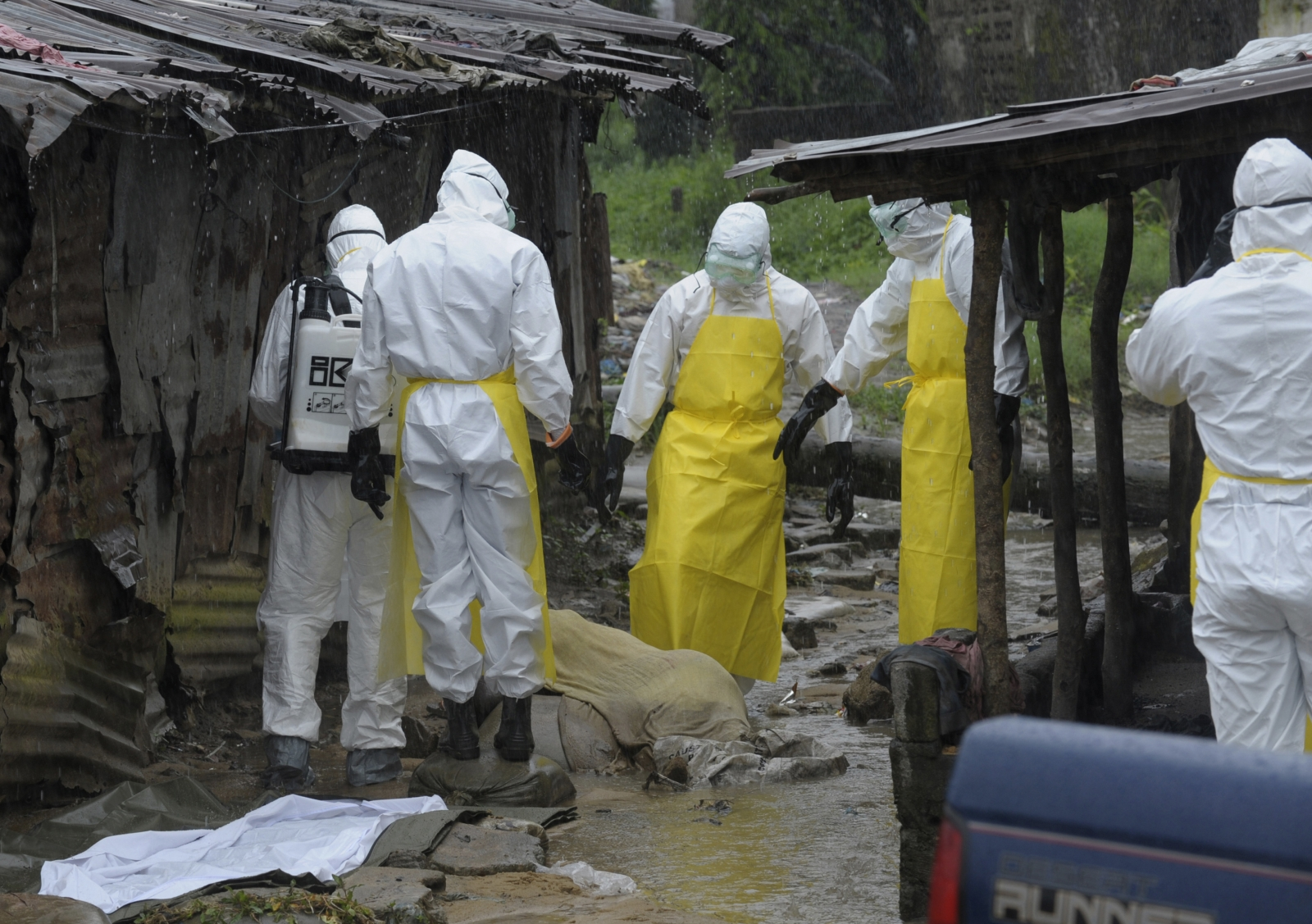 Health workers dead body