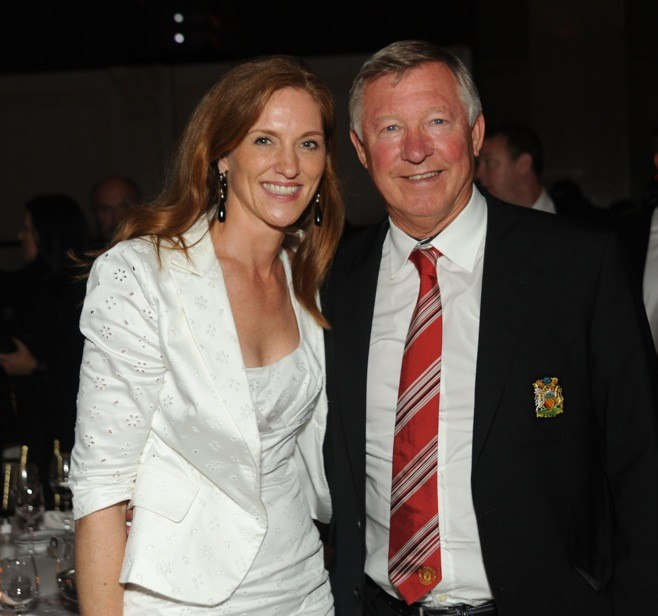 Beatrice de Quervain and Dir Alex Ferguson
