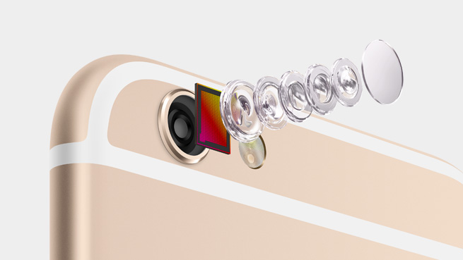 iPhone 6 iSight lens