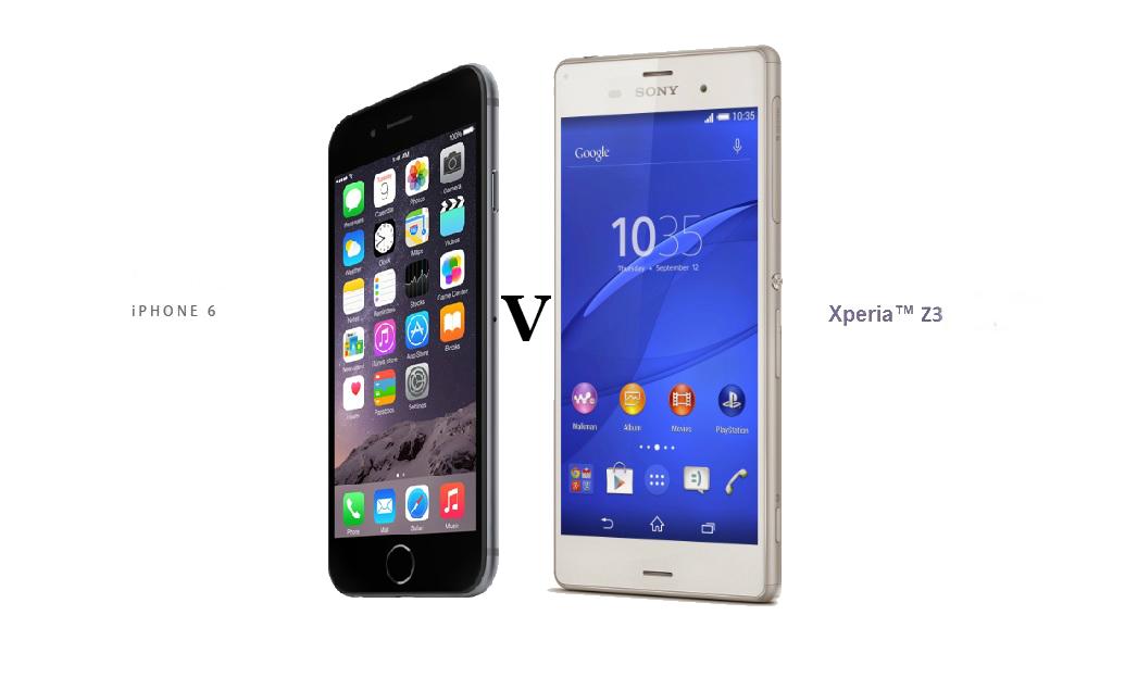 Fotos xperia z3 vs iphone 6