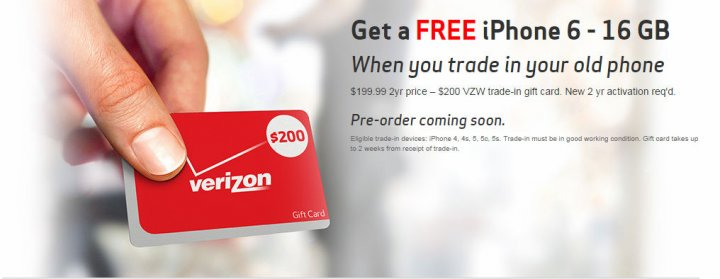 Apple iPhone 6 16GB offered for 'Free' by Verizon in Return for Older iPhones: Upgrade Now