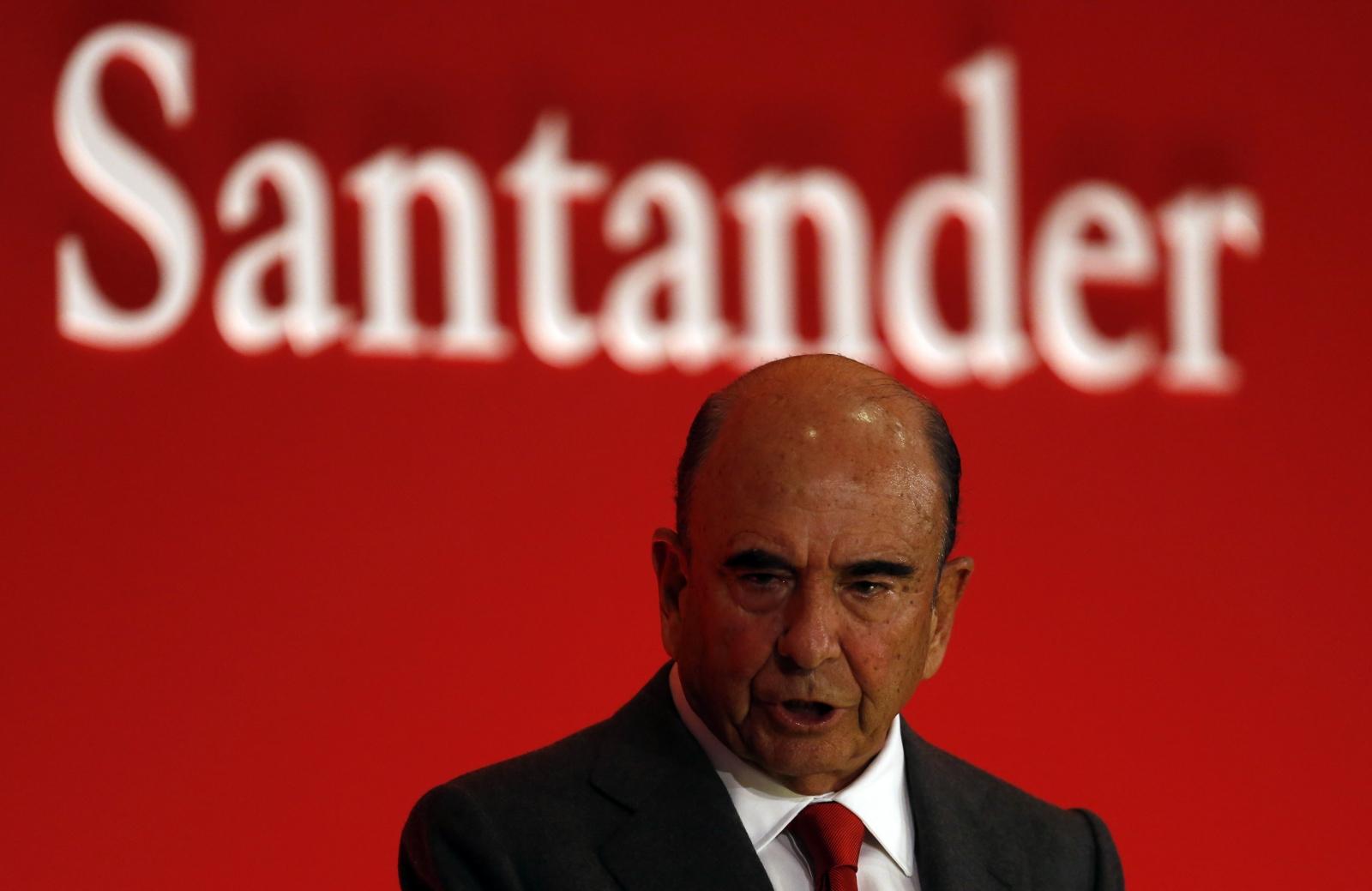Santander Shares Sink After Chairman Emilio Botin Dies
