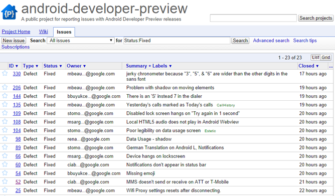 Android L Preview: 14 New Bug Fixes Including AT&T/T-Mobile MMS Error Fix Found via Developer Preview Hub