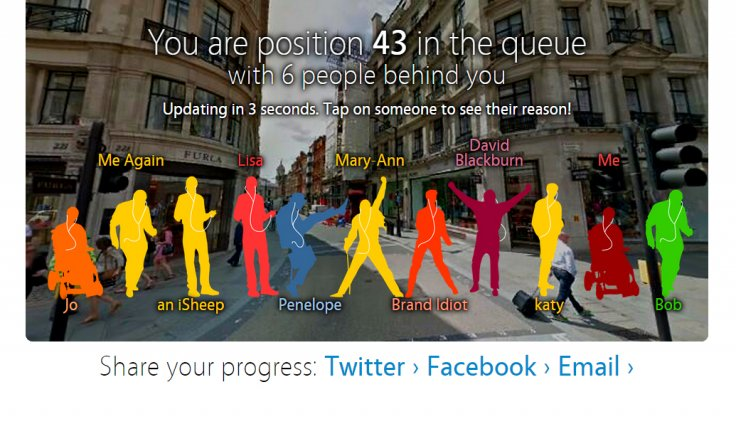 iQueue, a new game simulating queuing for a new Apple gadget