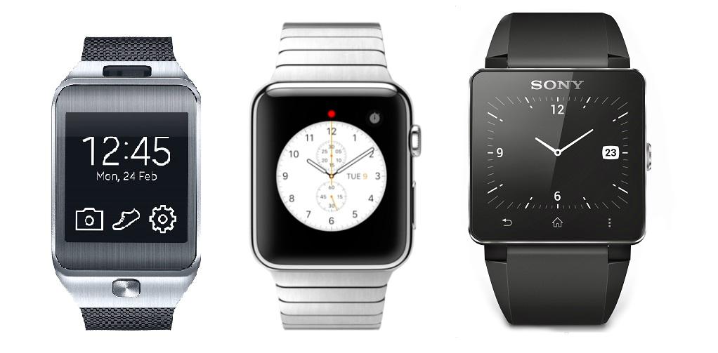 Apple Watch Samsung Gear Sony comparison