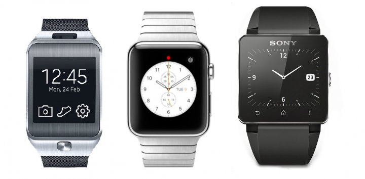 Apple Watch Samsung Gear Sony comparison