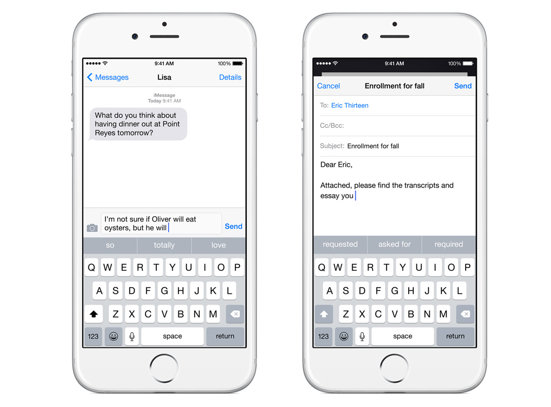 QuickType on iOS 8
