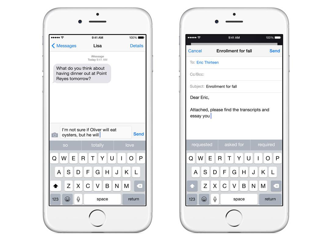 QuickType on iOS 8