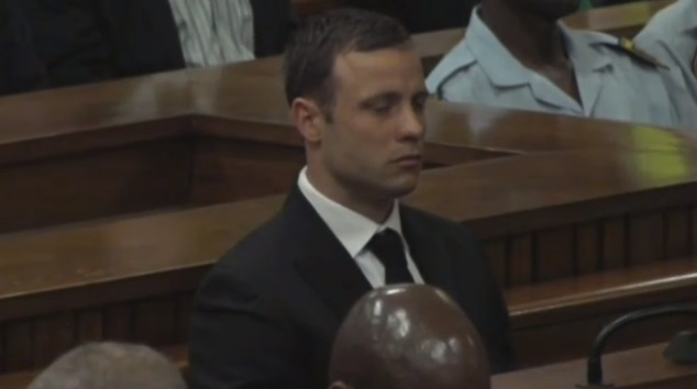 Pistorius in court  as Judge Masipa reads out the charges against him