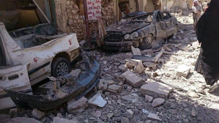 Raqqa bombardment