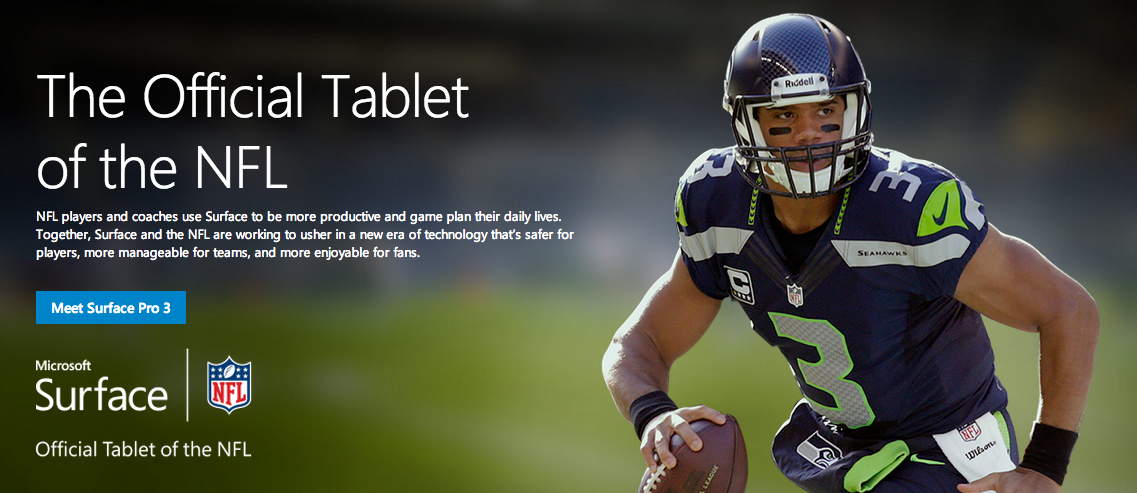 Microsoft Surface NFL Tablet