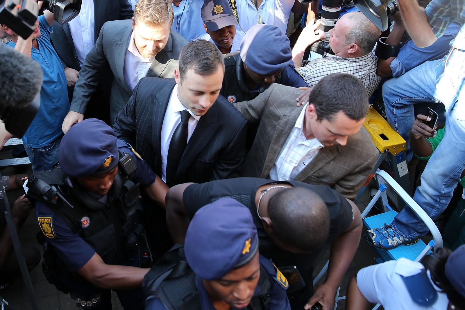 Oscar Pistorius arrives at North Gauteng High Court