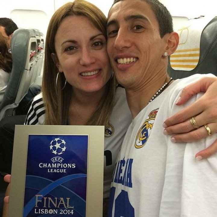 Jorgelina Cardoso and Angel di Maria)