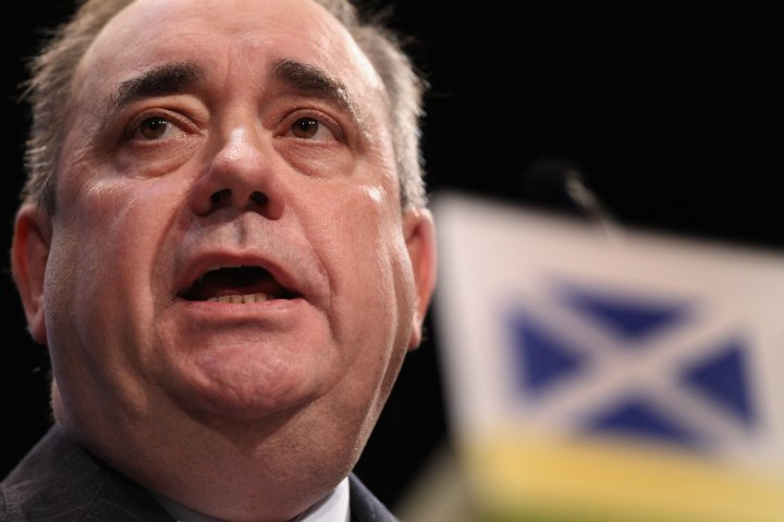 Alex salmond has accused business leaders of bullying, as the camapign for Scottish independence moves into its final weekend. (Getty)