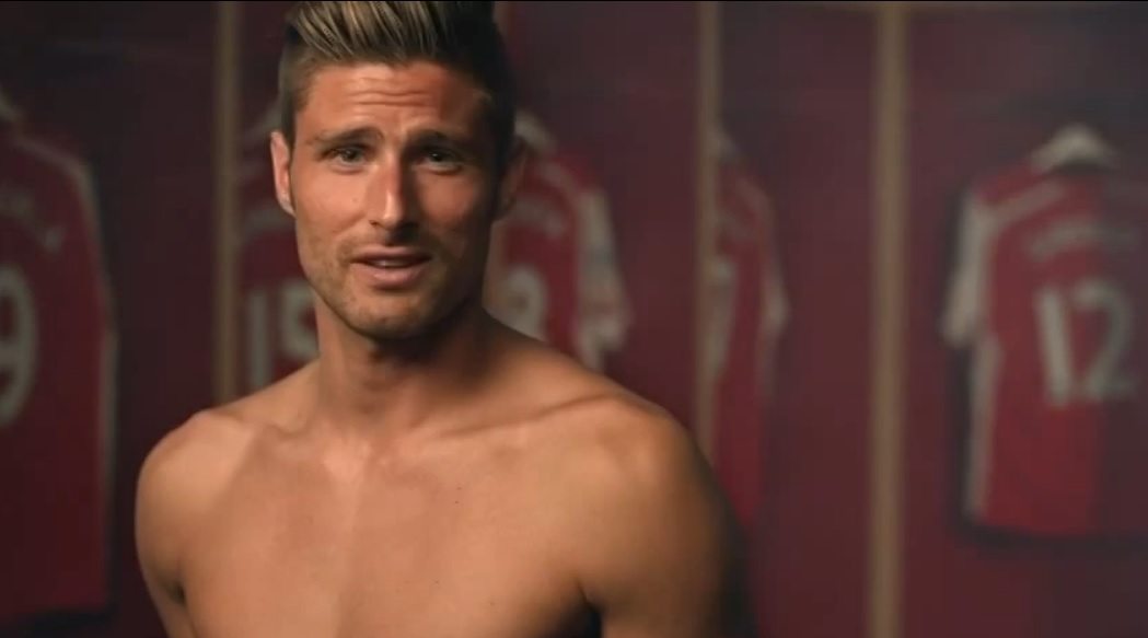 Arsenal striker Olivier Giroud takes part in the Rainbow Laces TV campaign to stamp out homophobia in football