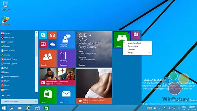 Windows 9: New Start Menu Codenamed 'Project Threshold' First Look in Demo Video