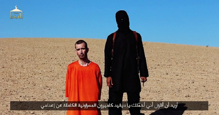 David Haines' beheading was depicted in a video entitled 'A Message to the Allies of America', which was released by Islamic State militants on Saturday.