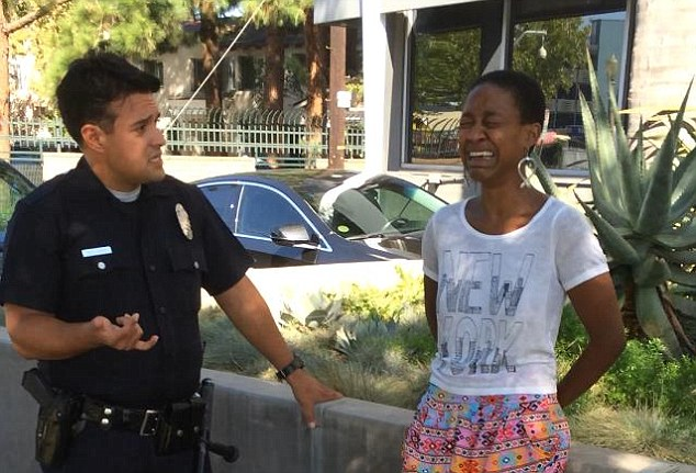 Django Unchained actress Daniele Watts sobs after being handcuffed by LA police