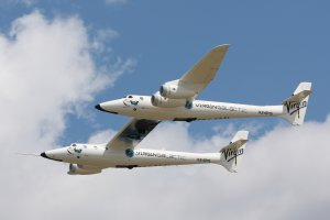 Virgin Galactic White Knight Two flying