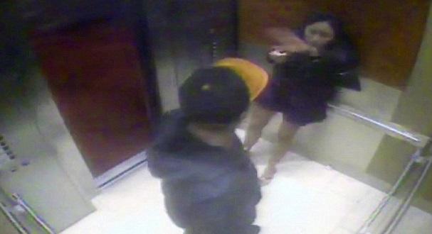 Elevator footage