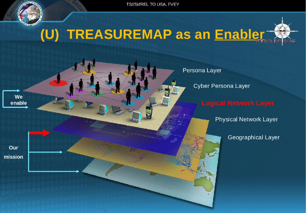 NSA And GCHQ Using The Treasure Map To RealTime Spy On Worlds - World map program