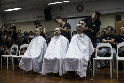 Occupy Hong Kong Leaders Head Shave
