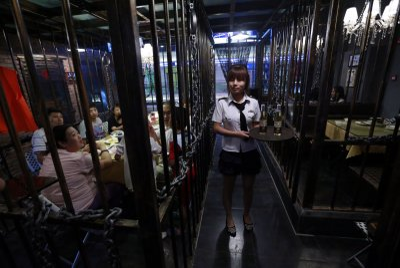 China Jail Restaurant Waitress