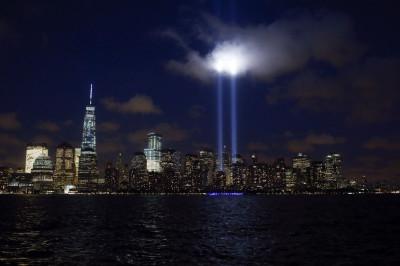 Tribute of Light New York 9-11 Anniversary