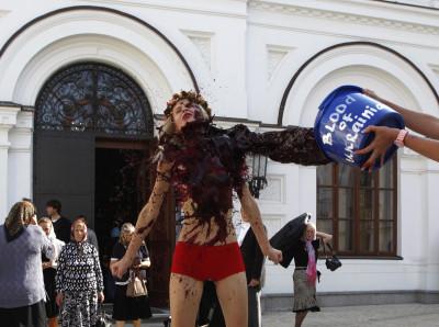 Femen Protest Ukraine Russia Conflict Kiev
