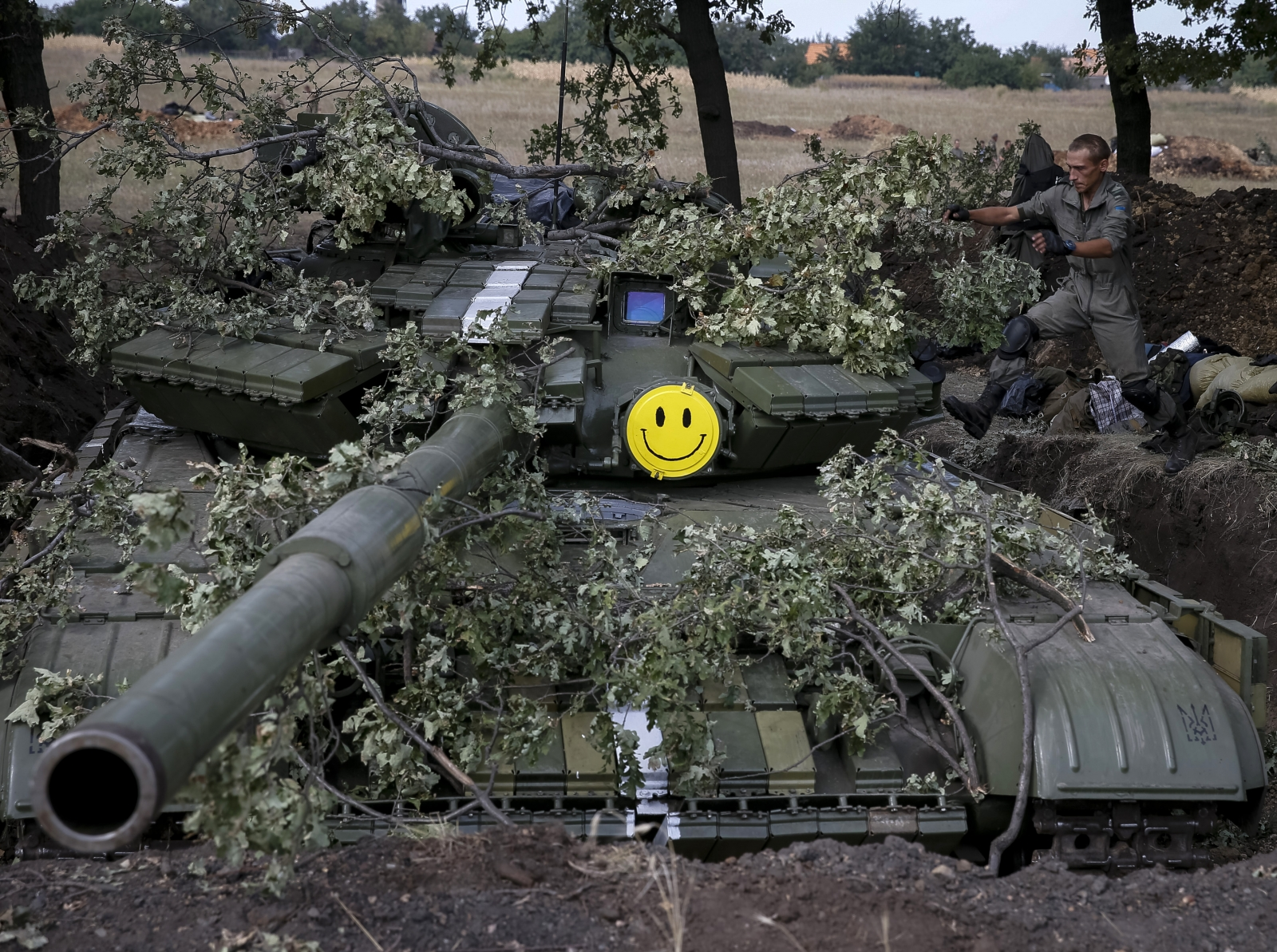 Ukraine Soldier Tank Smiley Face