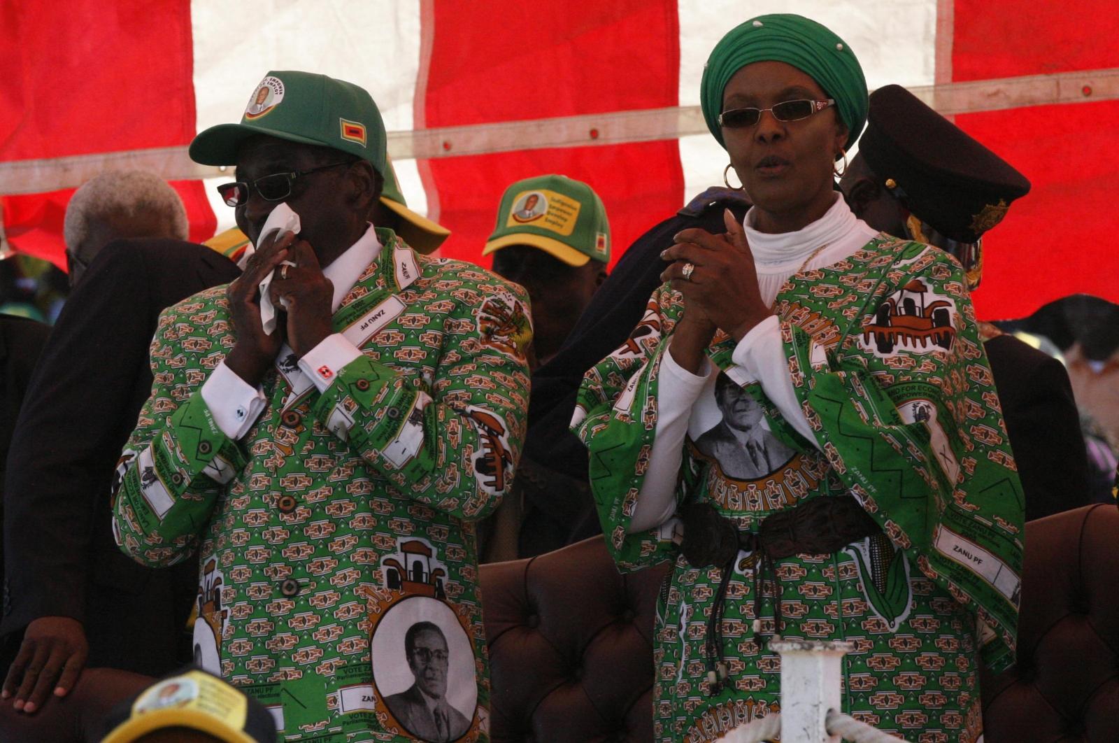 Robert Mugabe with wife Grace