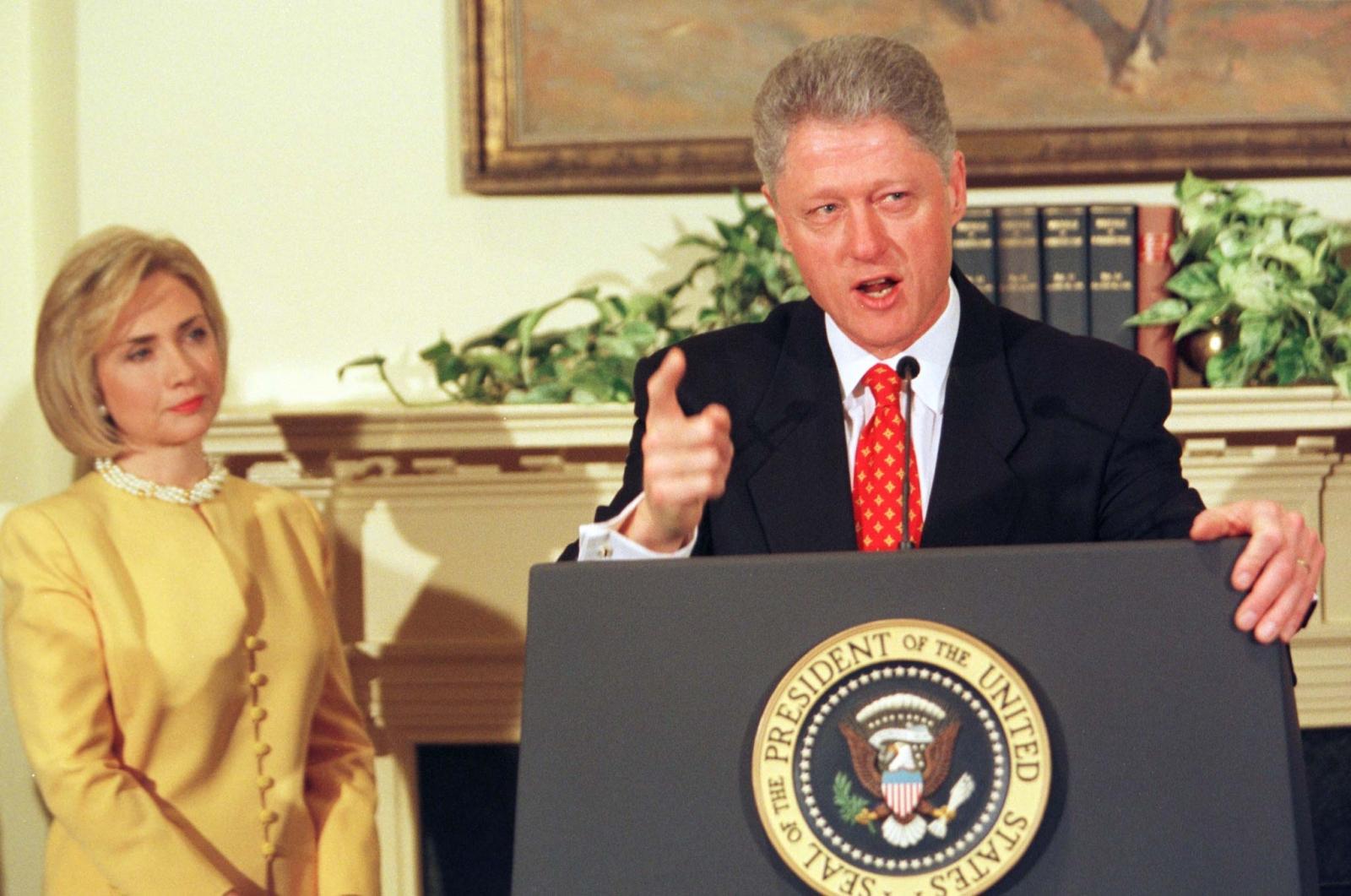 Clinton Denies Lewinski Affair