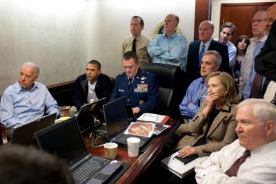 Hillary Watches Bin Laden Mission