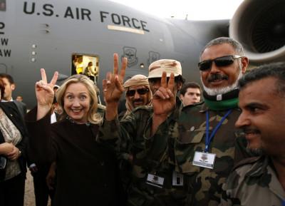 Hillary in Libya