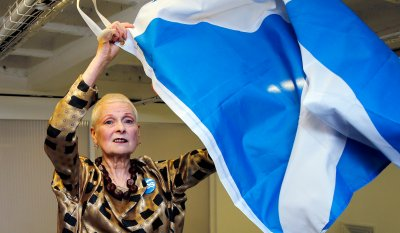 Vivienne Westwood London fashion week waves the saltire