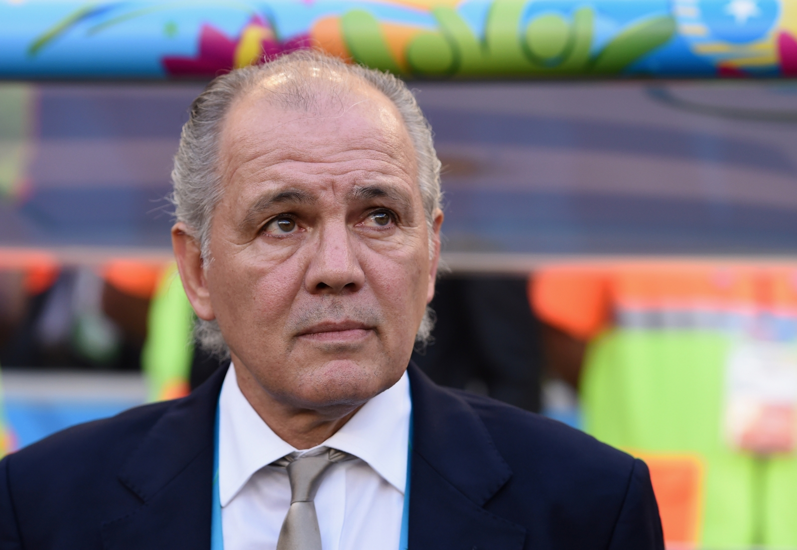 Alejandro Sabella  - 2018 Grey hair & alternative hair style.