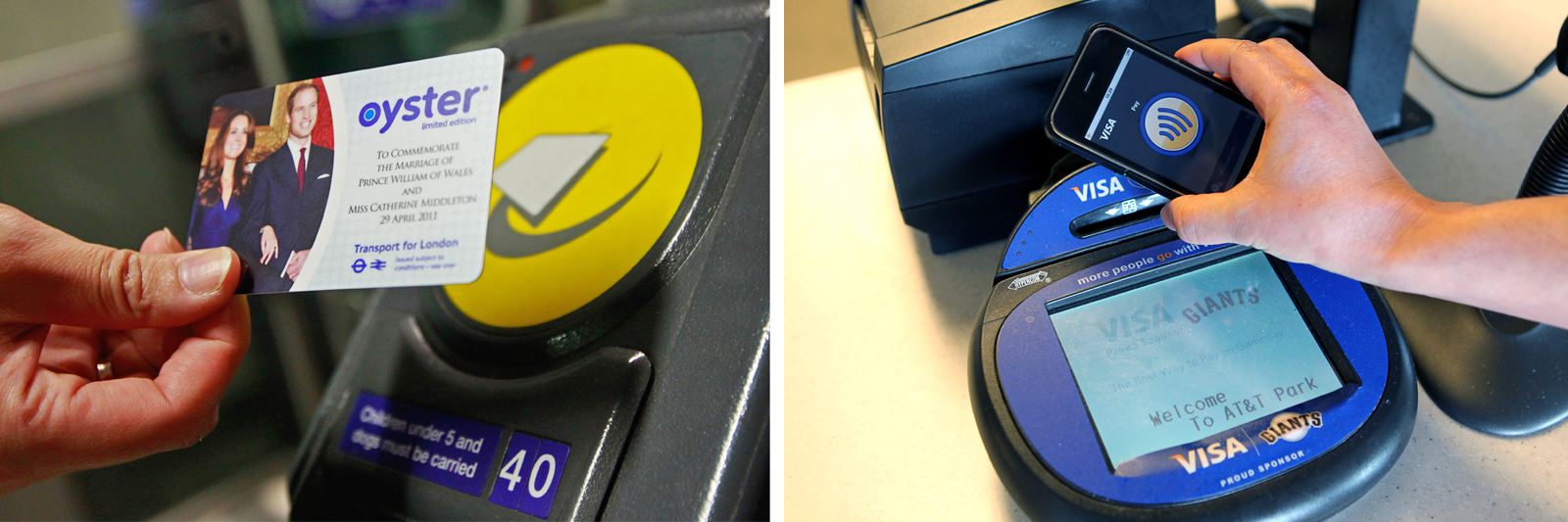 Oyster Card versus NFC contactless payments