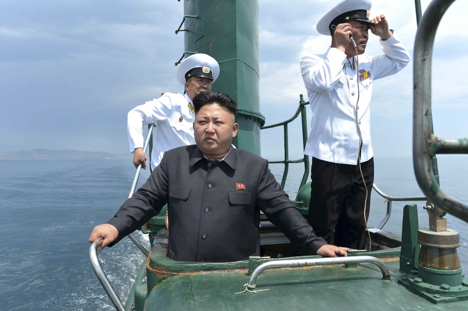 Kim Jong-Un on a submarine
