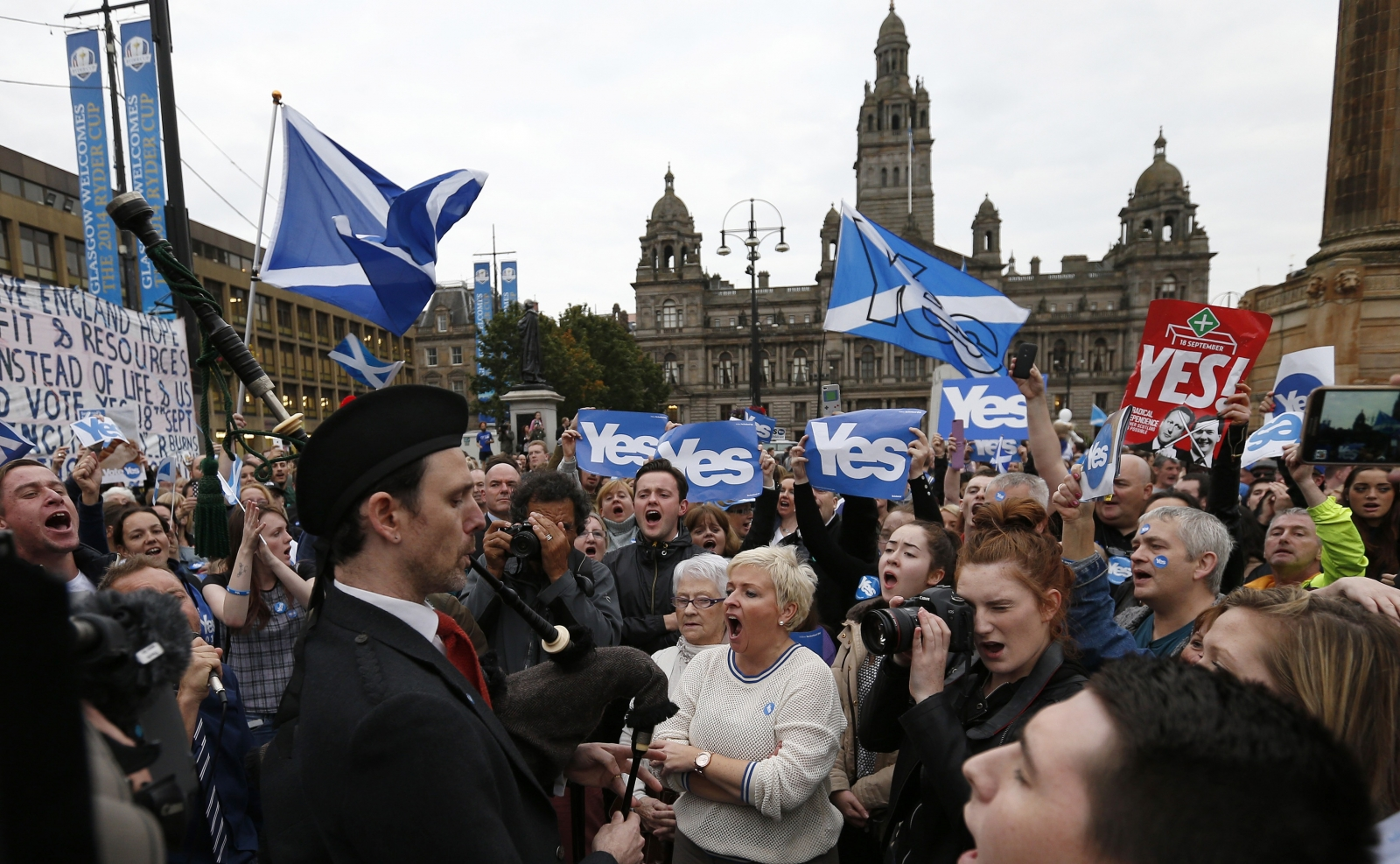 Scottish independence - Glasgow yes campaigners