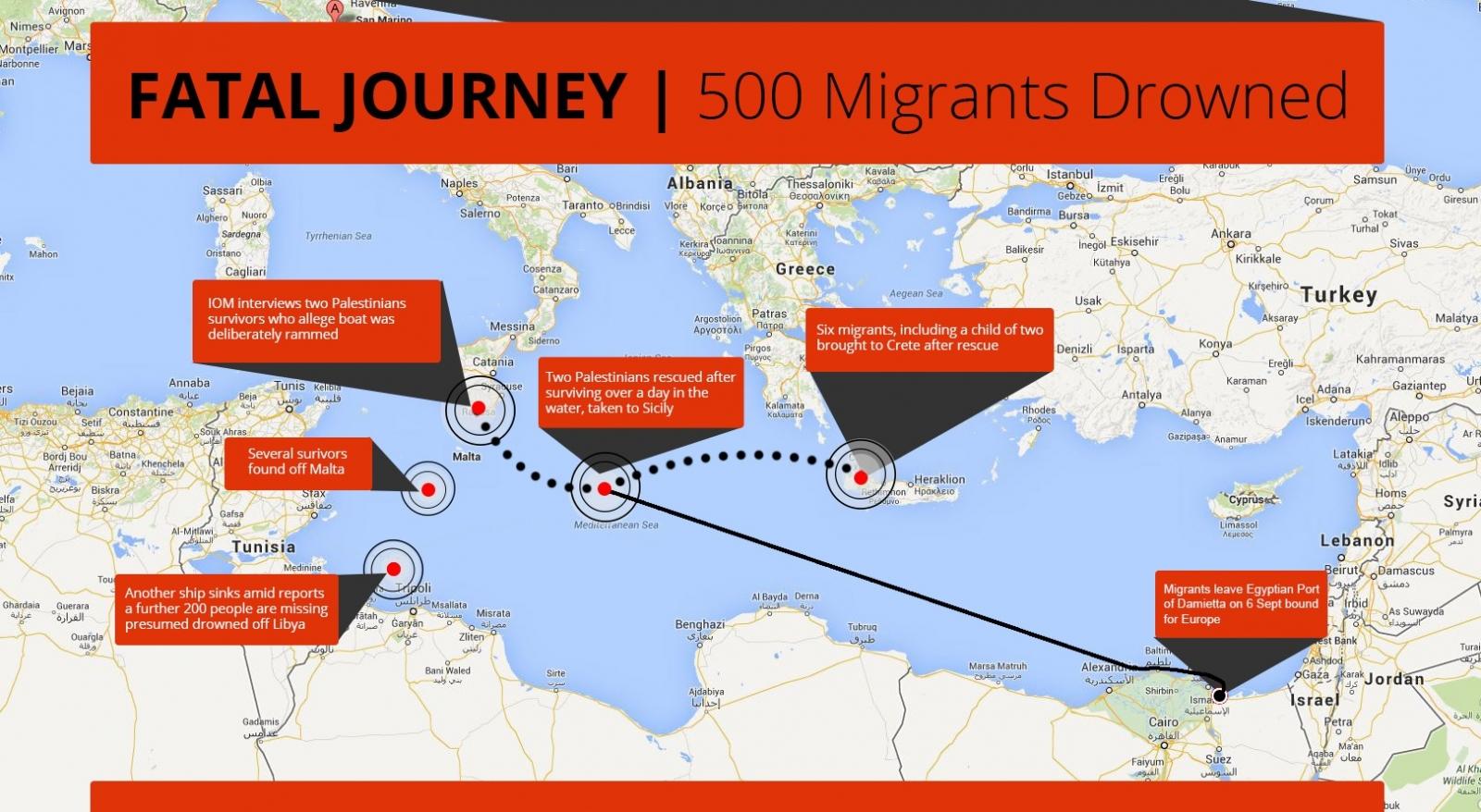 Mediterranean Migrants Boat Incident 500 die