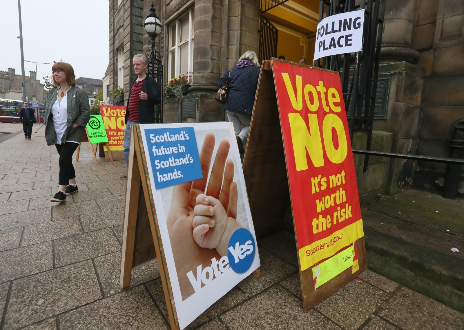 Edinburgh polling station