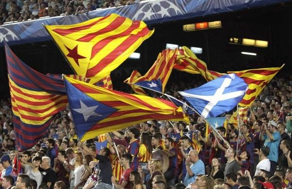 Scottish flag Nou Camp