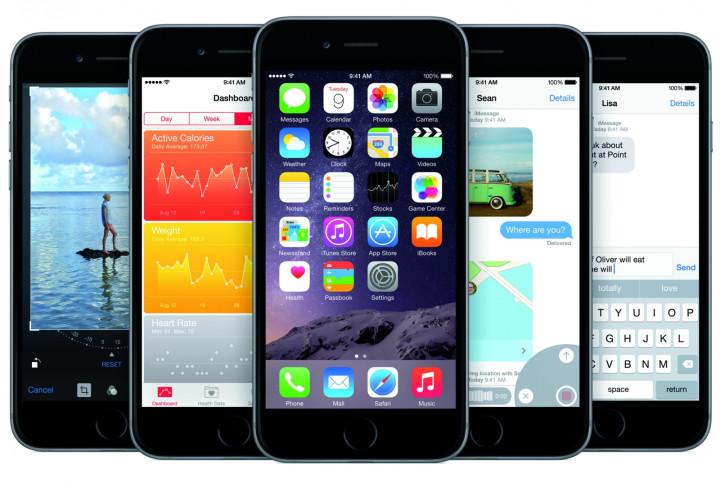 Apple iPhone running iOS8