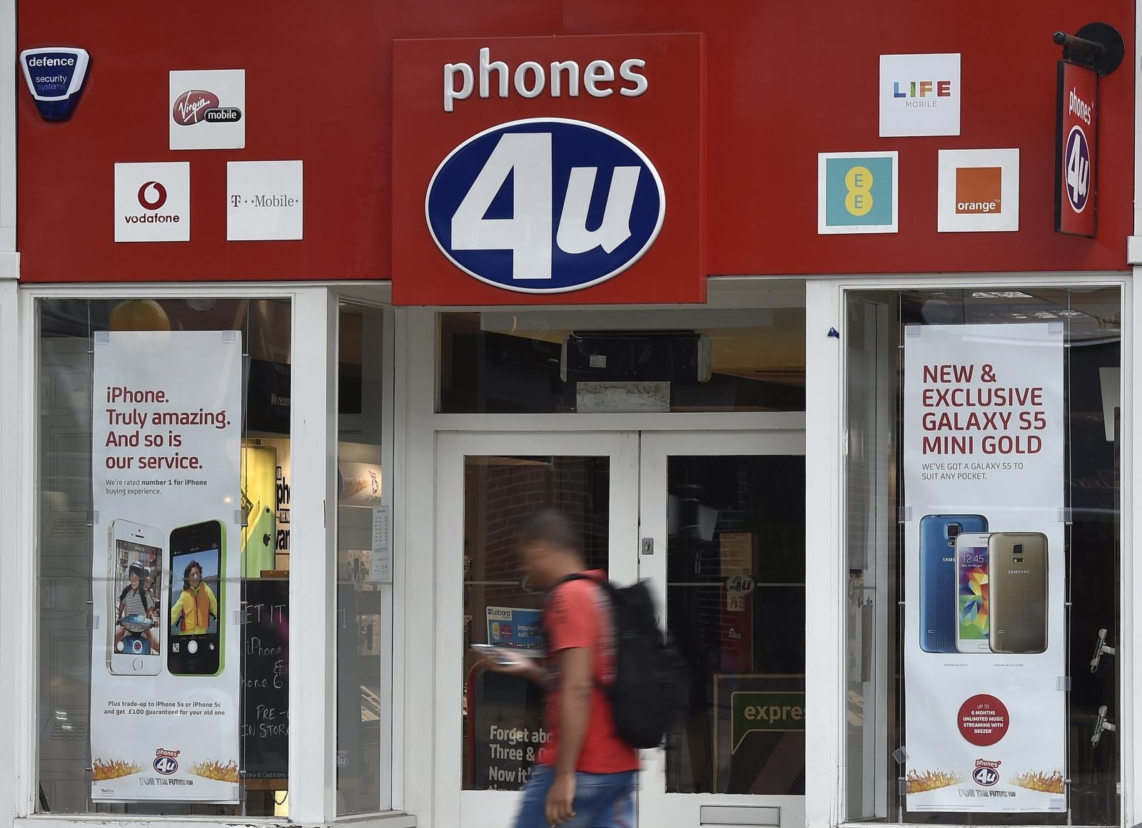 Phones 4U store
