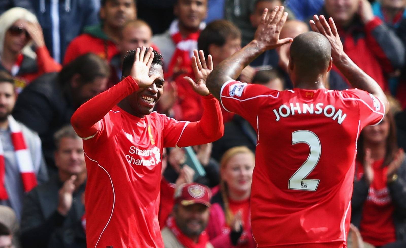 Daniel Sturridge and Glen Johnson