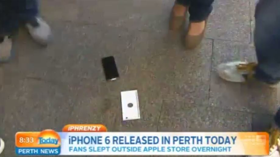 iPhone 6 Dropped