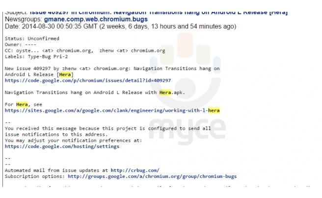 Android LMP New Build LRW73D Spotted Running Nexus 5: Project Hera