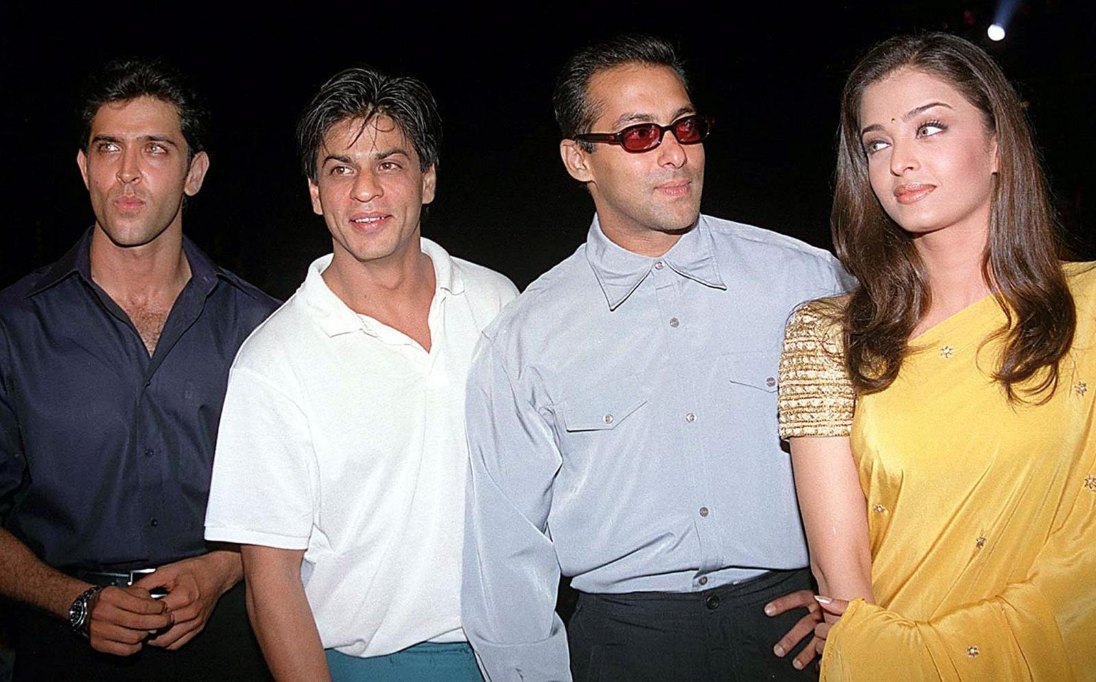 Hrithik Roshan, Shahrukh Khan, Salman Khan, and Aishwarya Rai